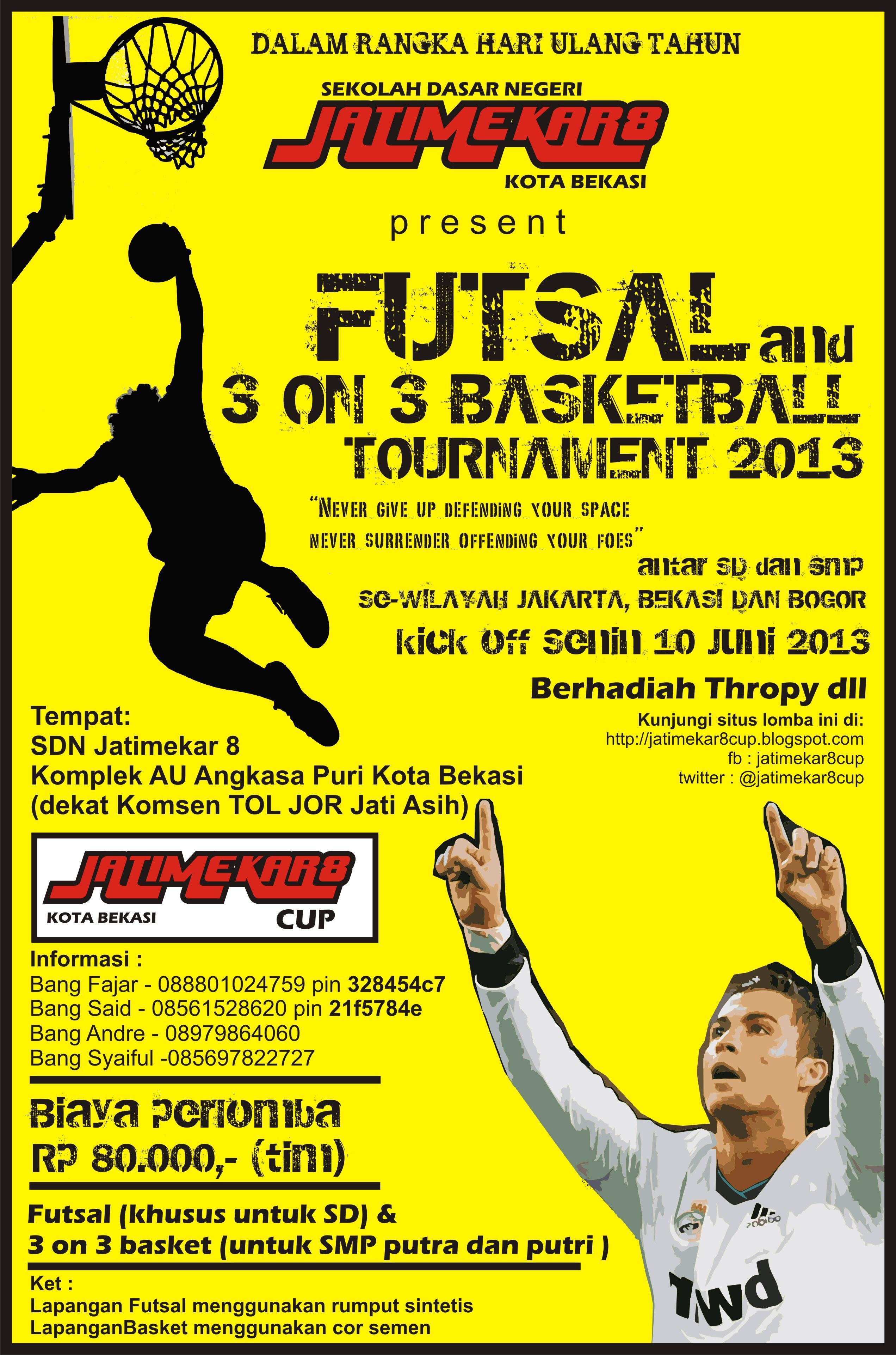 Undangan Futsal dan 3 on 3 Basket Tournament 2013 | Blognya
